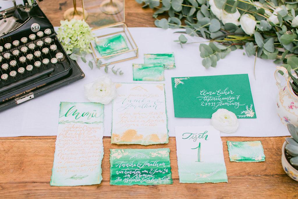 Hochzeitspapeterie Kalligrafie