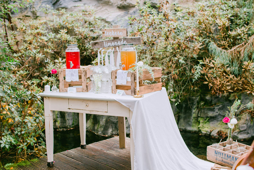 Getränkebar Hochzeit Vintage
