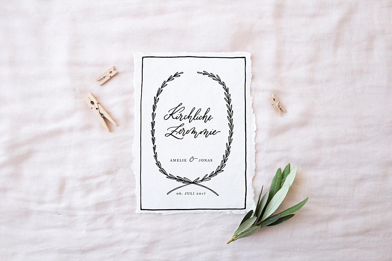 Kirchenheft Kalligrafie
