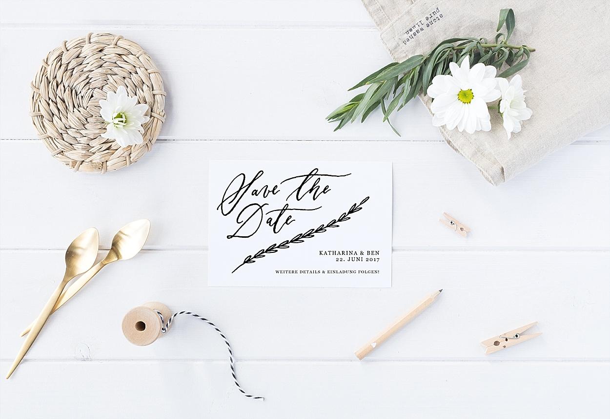 Hochzeit Kalligrafie Save the Date