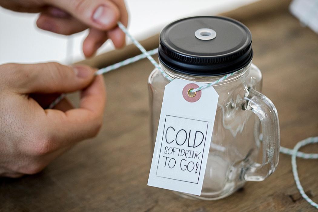 DIY Anhänger für Trinkgläser Getränkebar