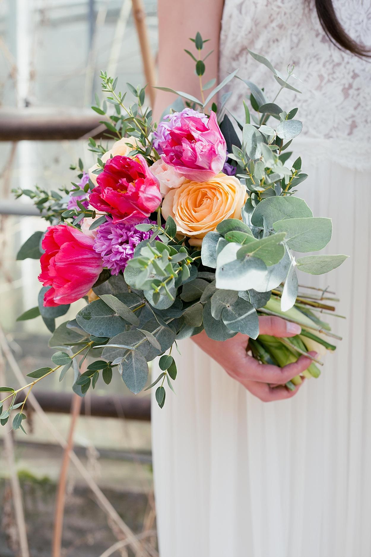 Brautstrauß rosa lila