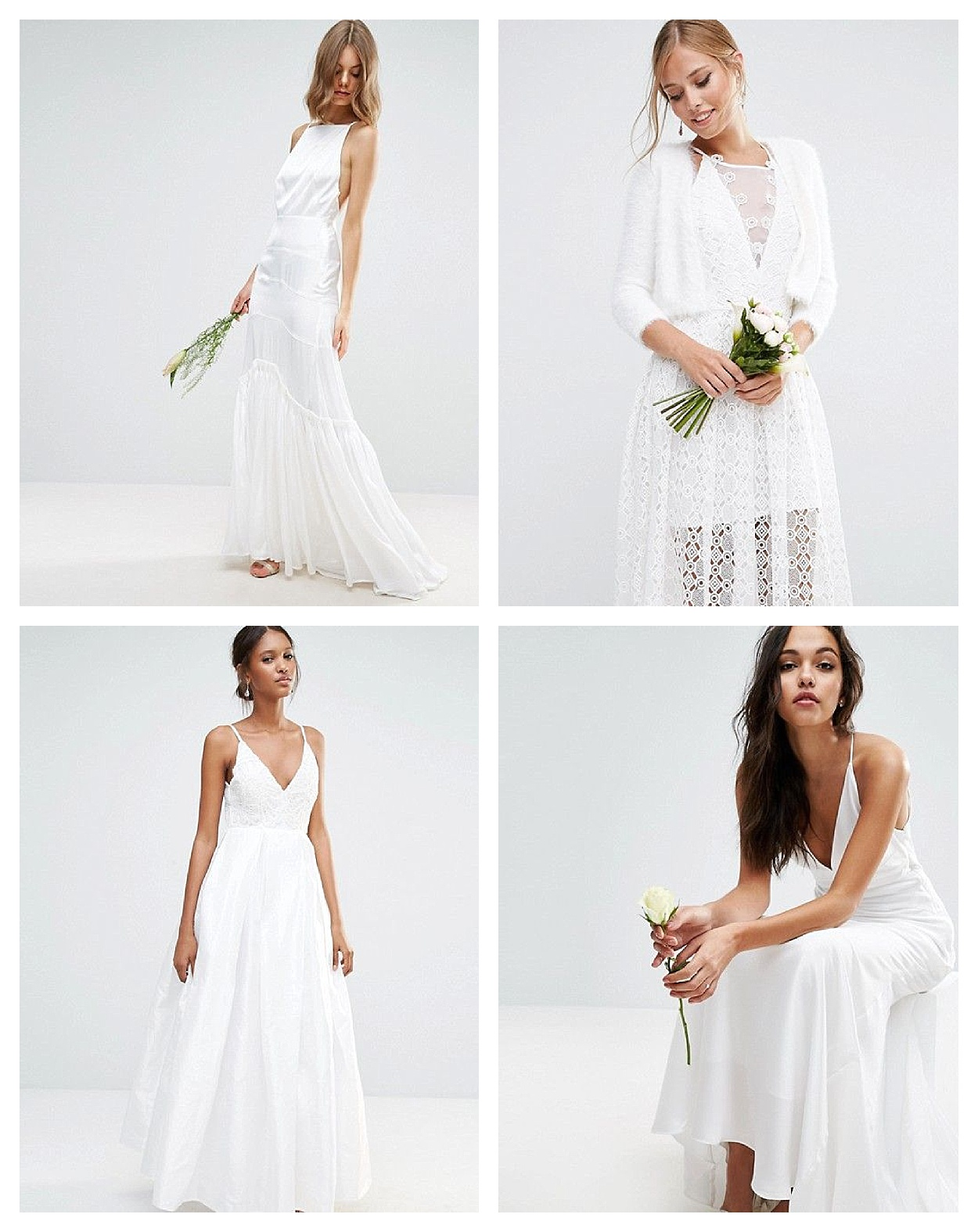 Coole Brautkleider für das Standesamt oder Boho Hochzeit ...