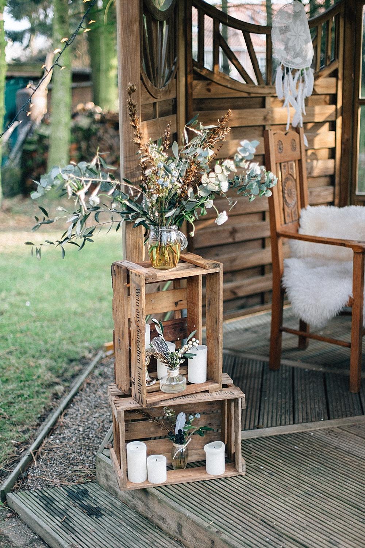 Blumenschmuck Eukalyptus Hochzeit