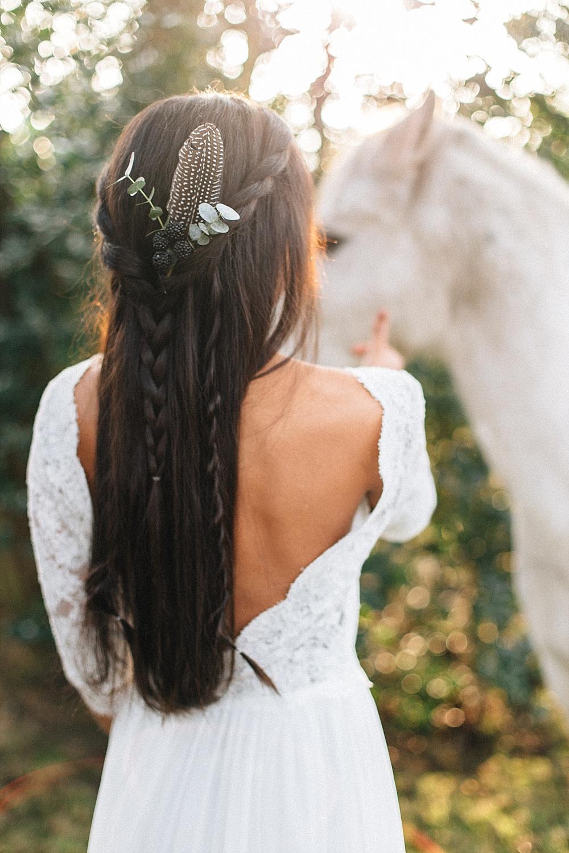 Boho Hochzeit Frisur