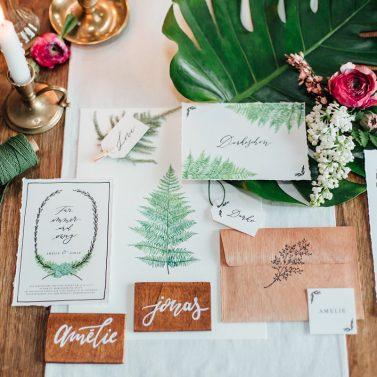 Greenery Collection und welcher Text in eure Hochzeitseinladung muss