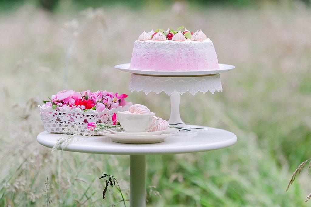 Pink Ombre Ideen für eine Gartenhochzeit