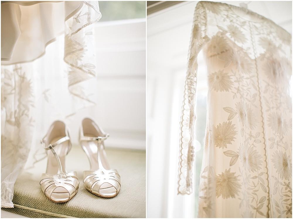 online store 71073 93bfa Brautschuche mit Glitzer und schicke flache Schuhe für die ...