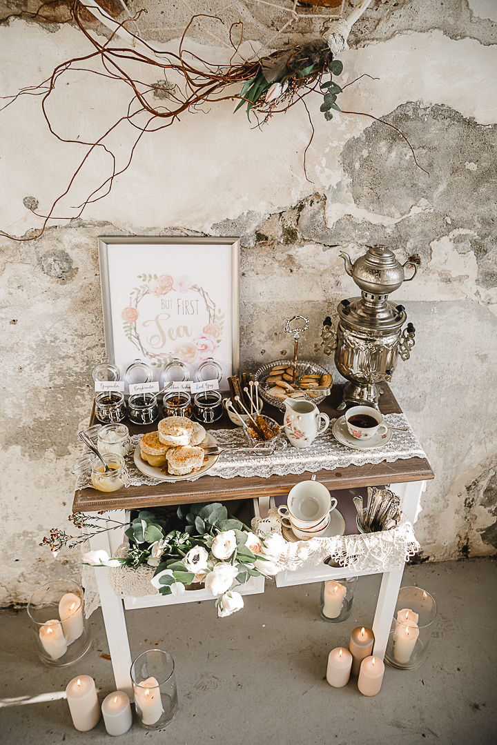 Tea Bar Wedding Vintage