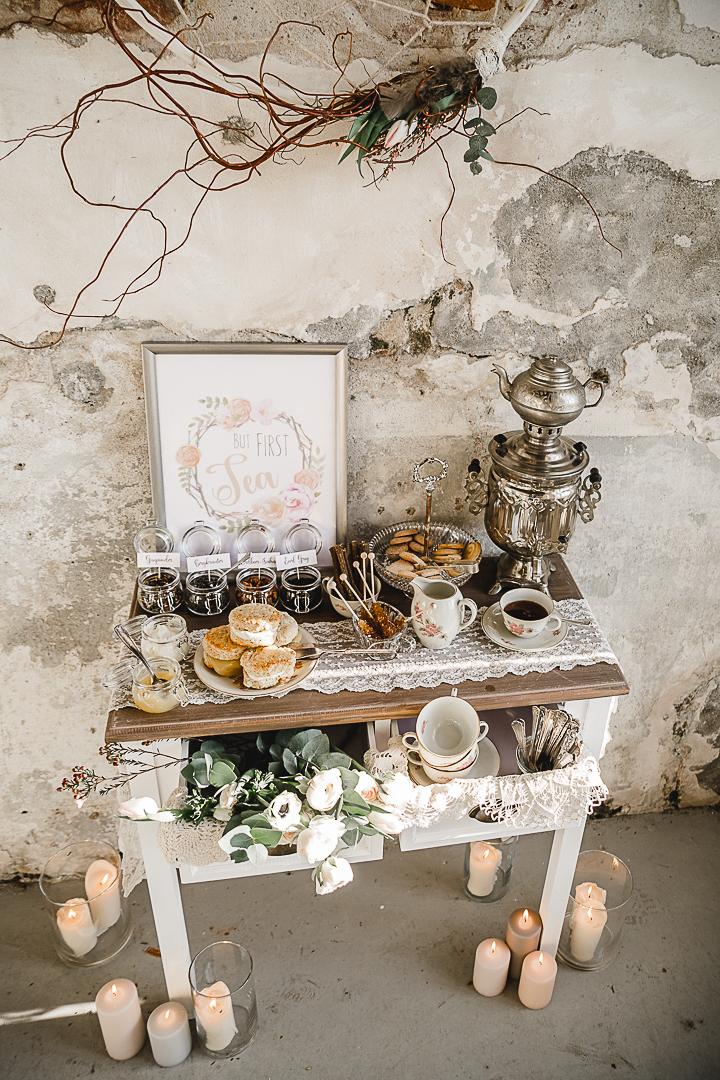 Tea Bar Wedding Vintage