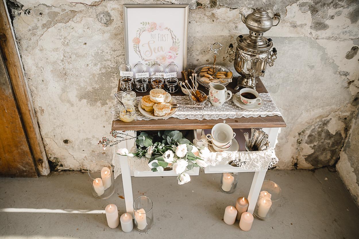 Teebar Hochzeit Vintage