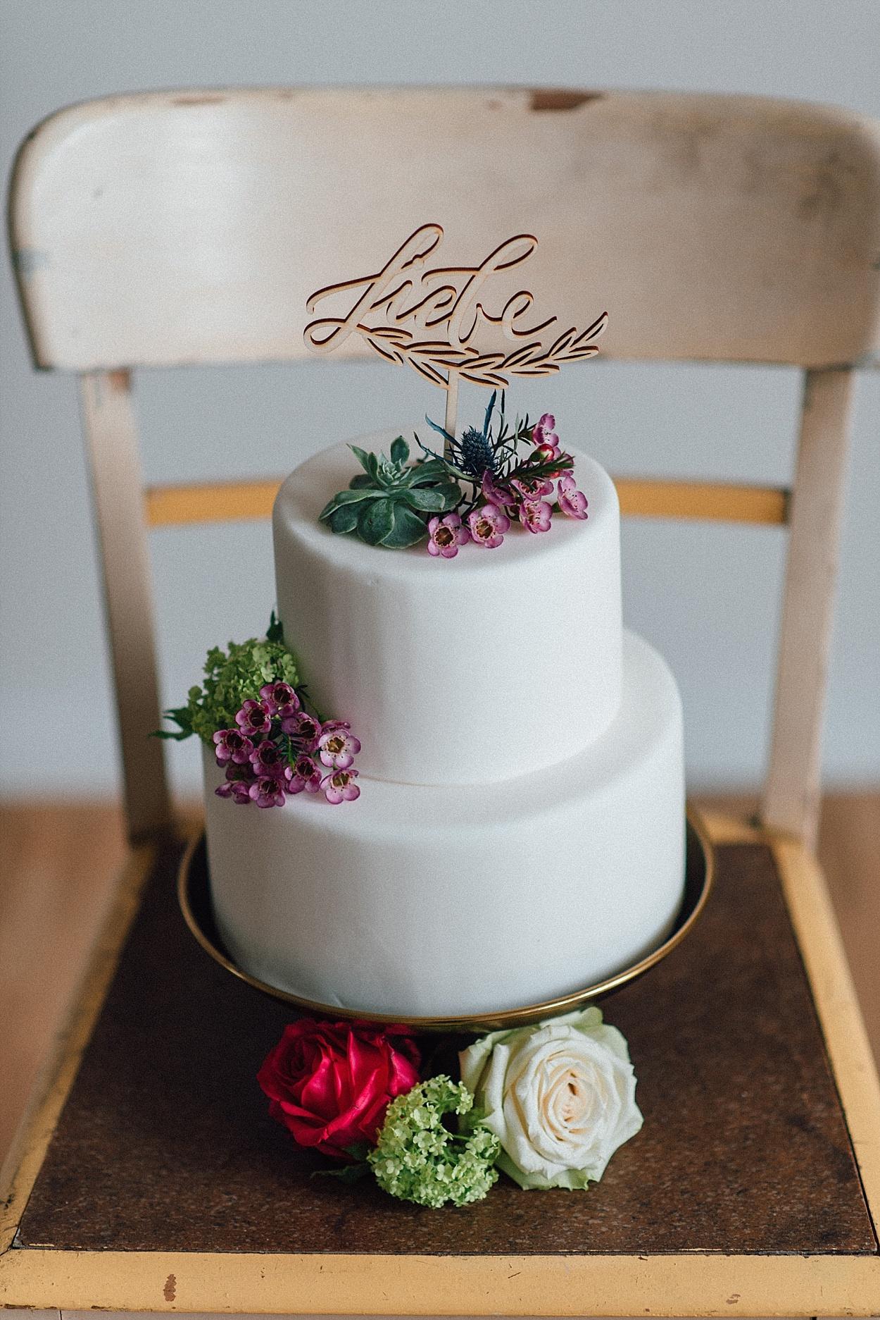Cake Topper Liebe Schriftzug
