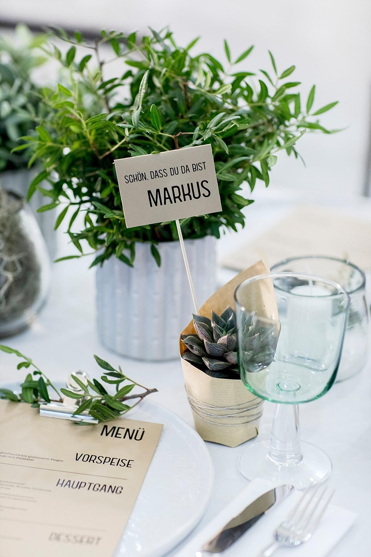 DIY Gastgeschenk Hochzeit Sukkulenten