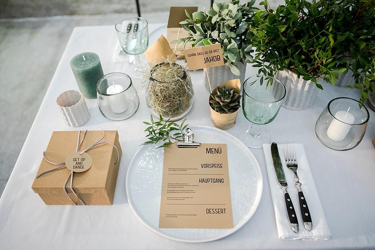 Urban Jungle Tischdekoration Hochzeit