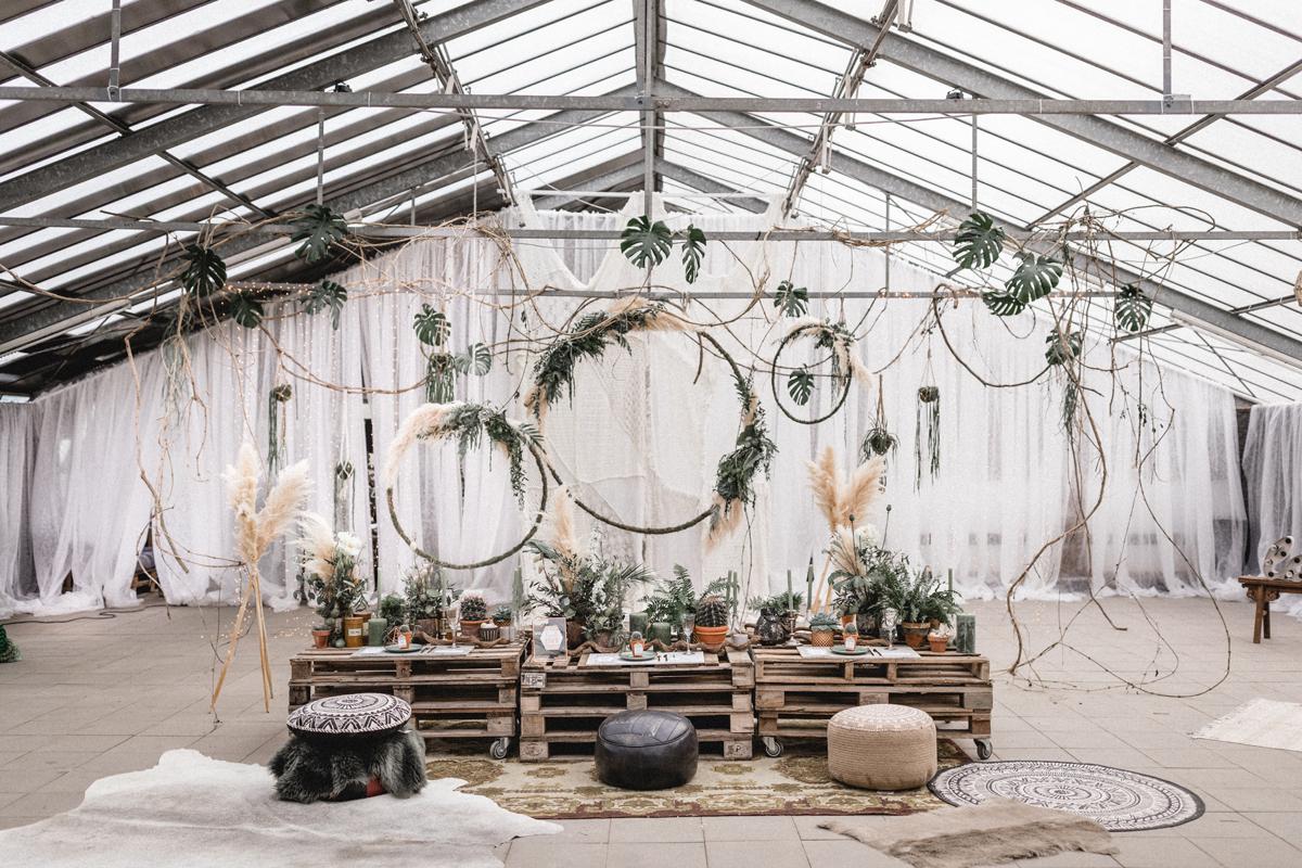 Urban Jungle Hochzeitsdekoration