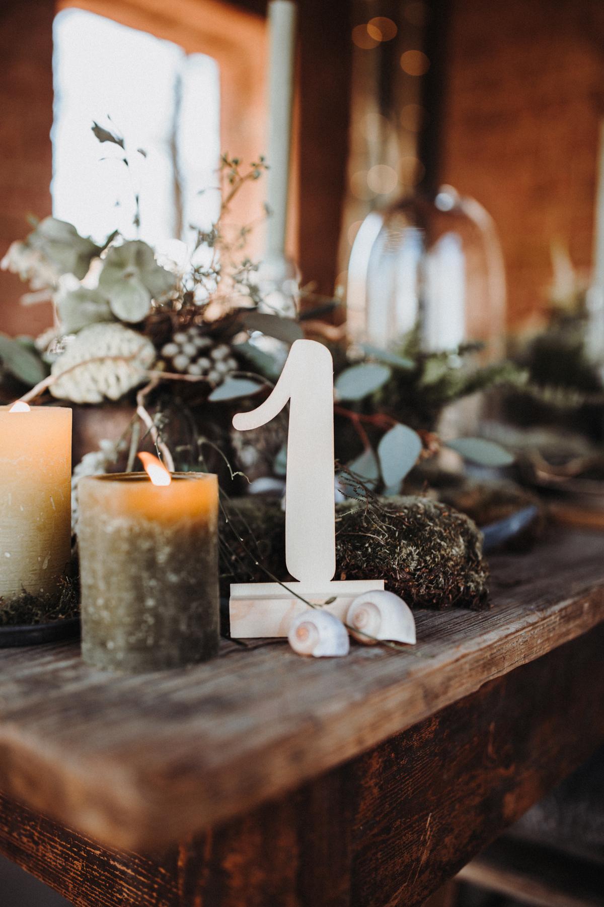 Tischnummer Holz Hochzeit
