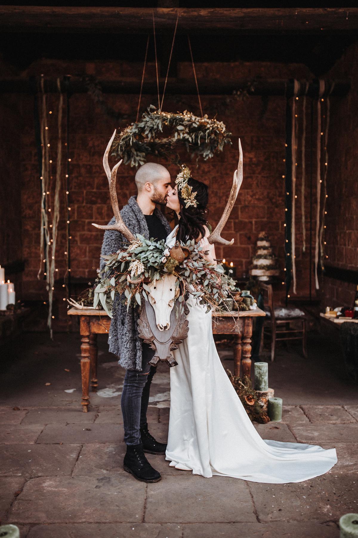 Boho Hochzeit grün braun