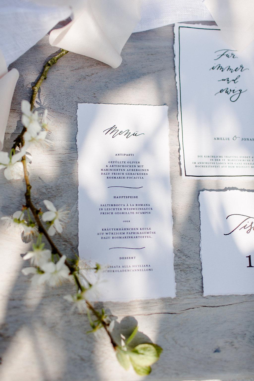 Hochzeitskarten Download Kalligrafie