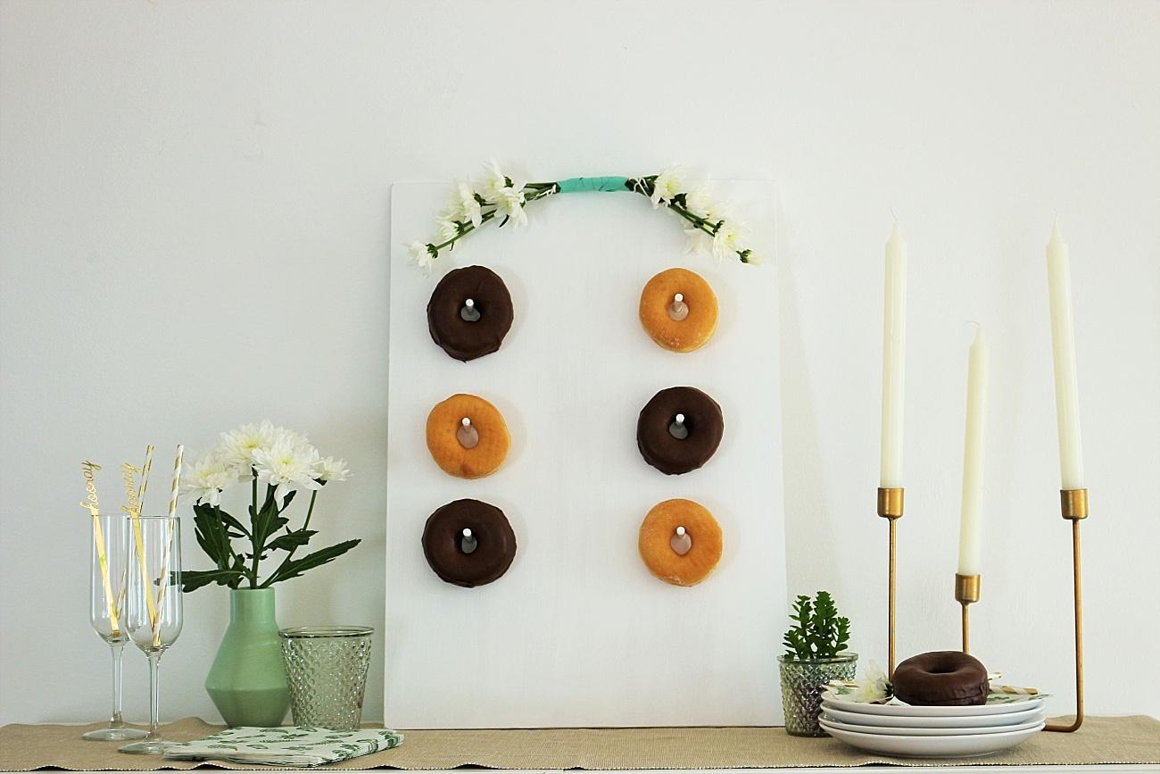 DIY Donut Wand Hochzeit, Donut Bar Hochzeit