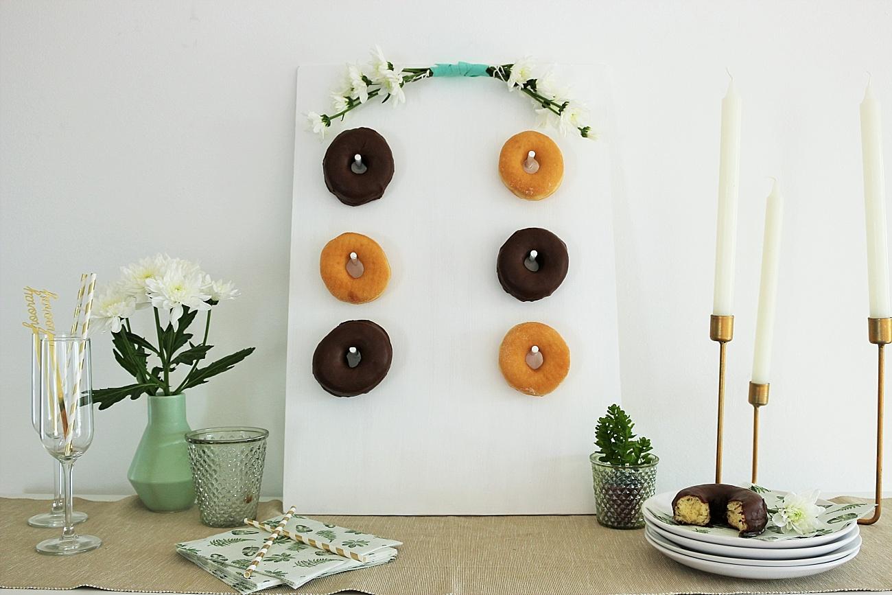 Donut Wall Selbermachen, Donuts Hochzeit