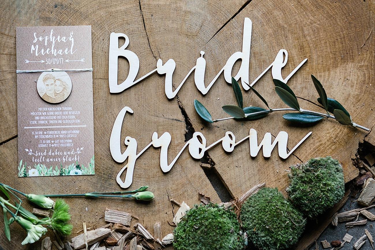 Bride Groom Holzschilder