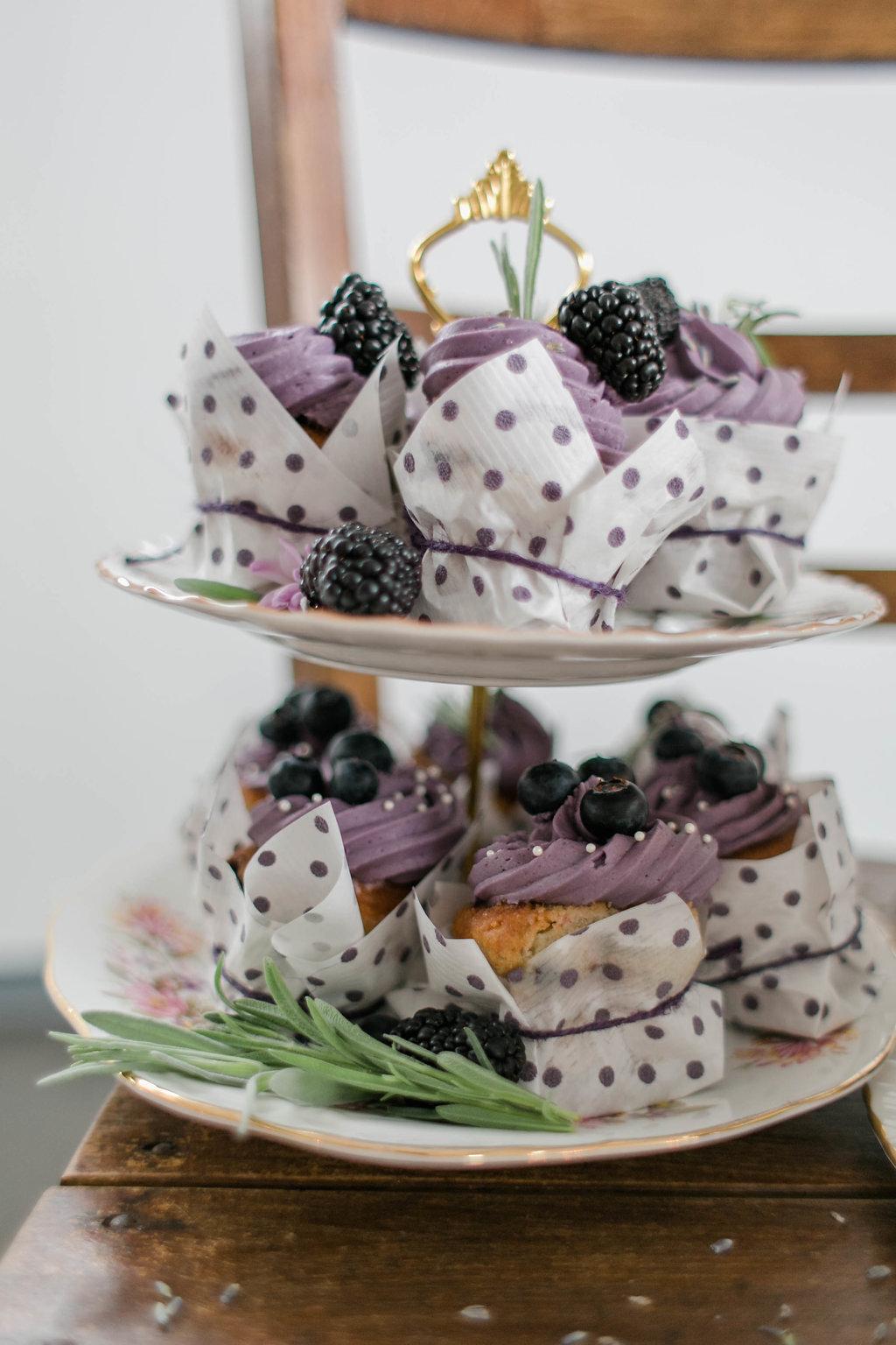 Cupcakes Brombeeren Hochzeit