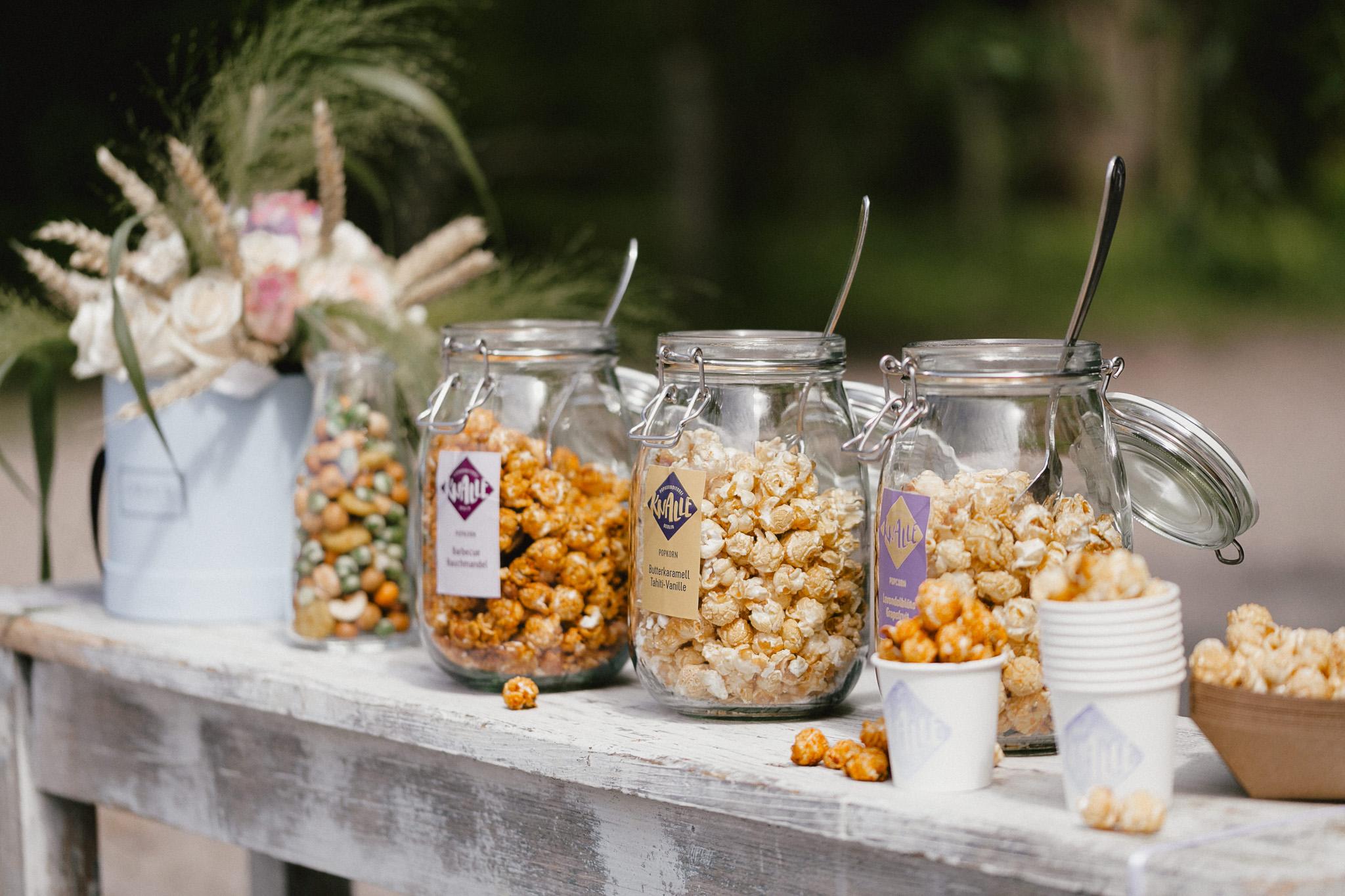 Popcorn Hochzeit - Popcorn bar statt Sweet Table
