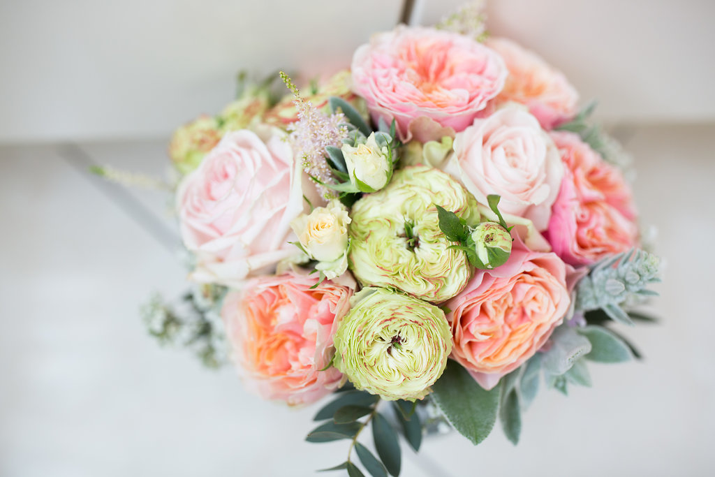 Brautstrauß Rosen rosa