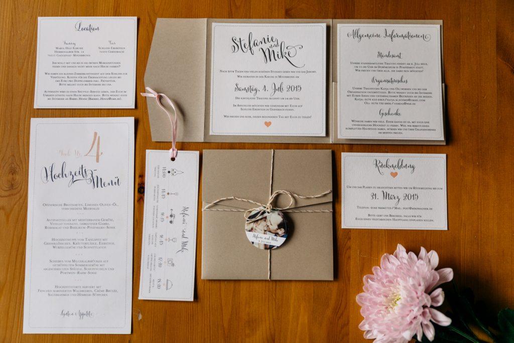 Stilvolle Hochzeitskarten von Birdy Papeterie