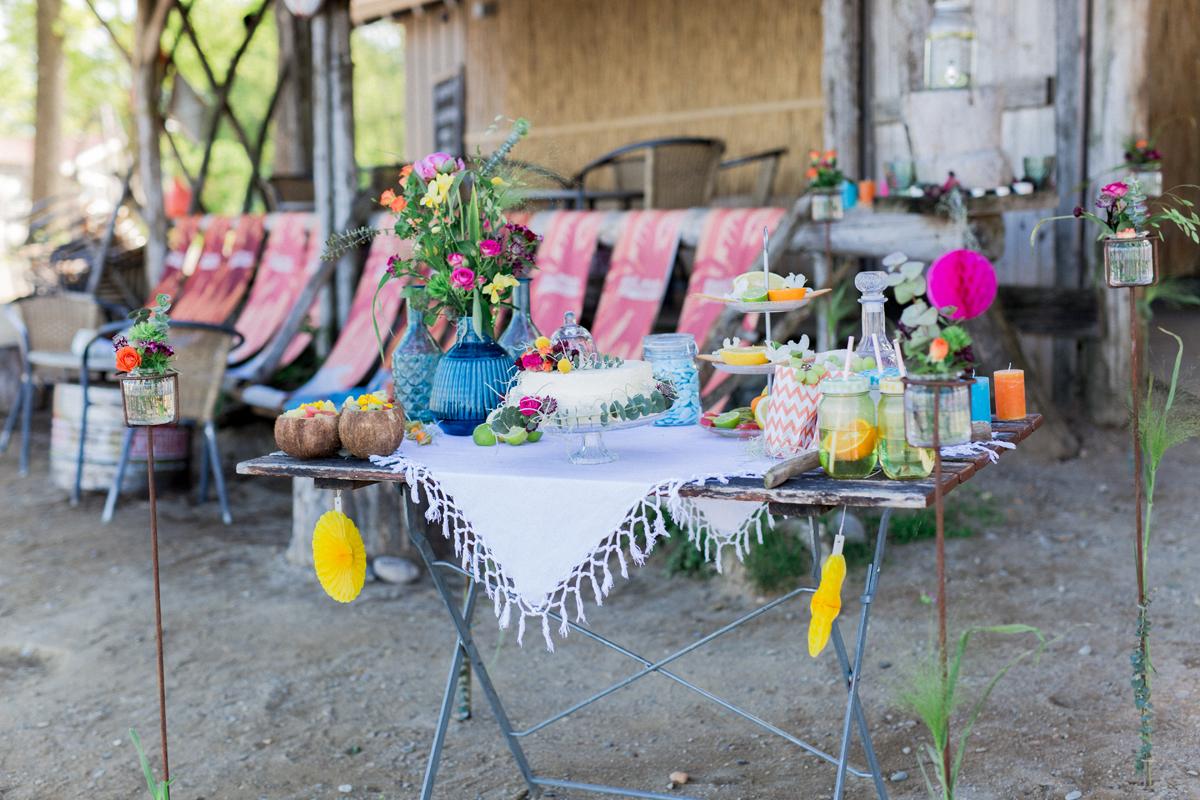 Sweet Table Boho Strandhochzeit Deutschland