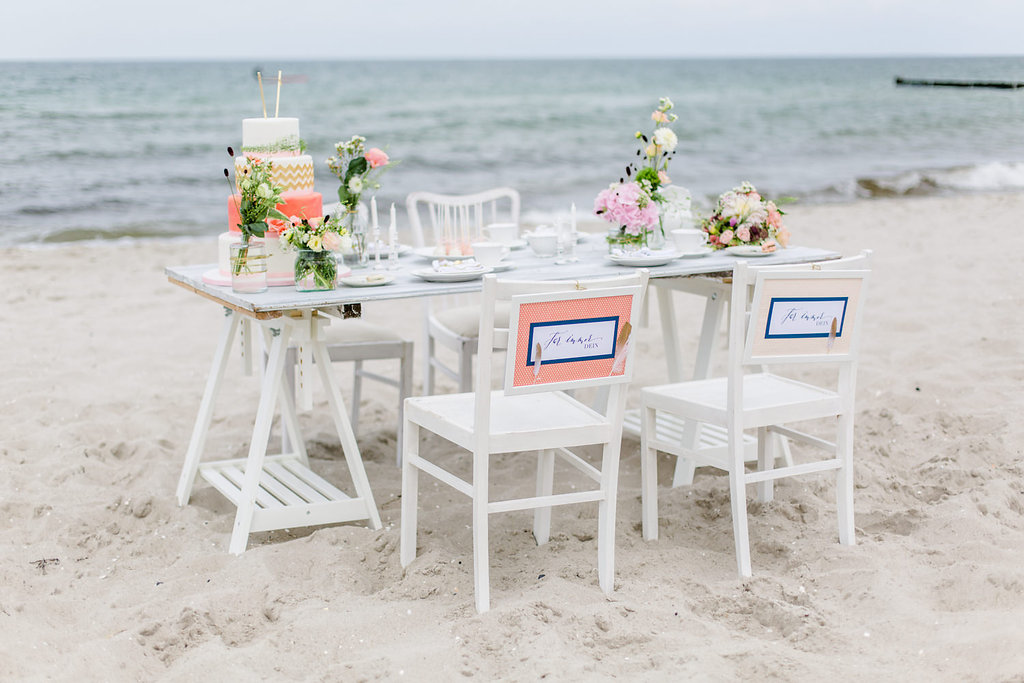 Tischdekoration Strandhochzeit