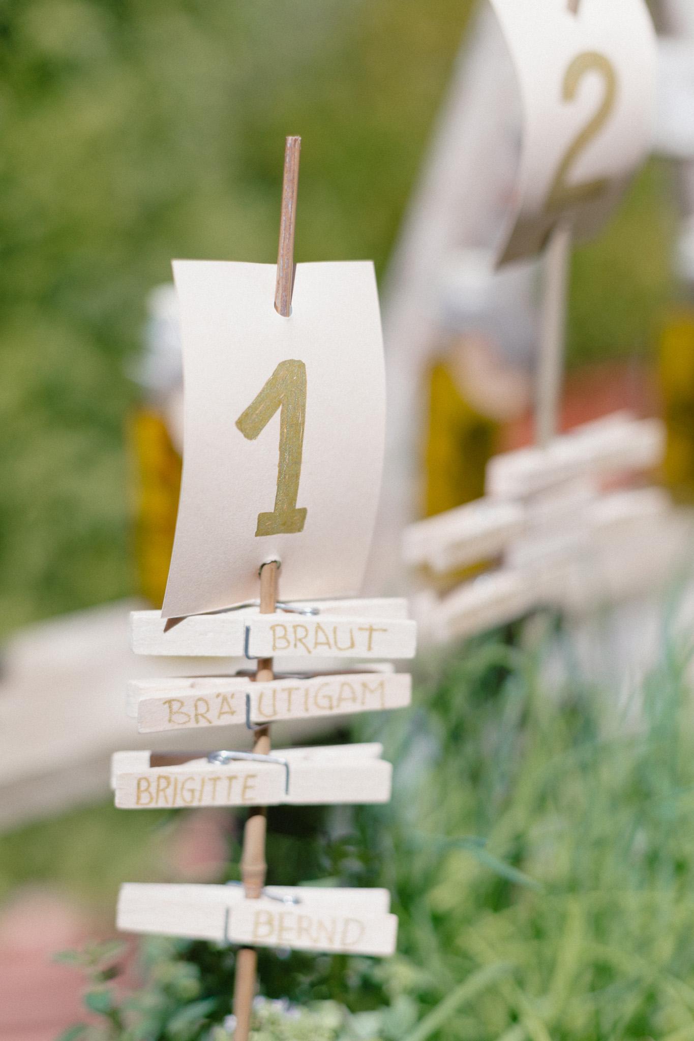 Tischnummer Hochzeit Ideen schön, Tischnummer Hochzeit selber machen