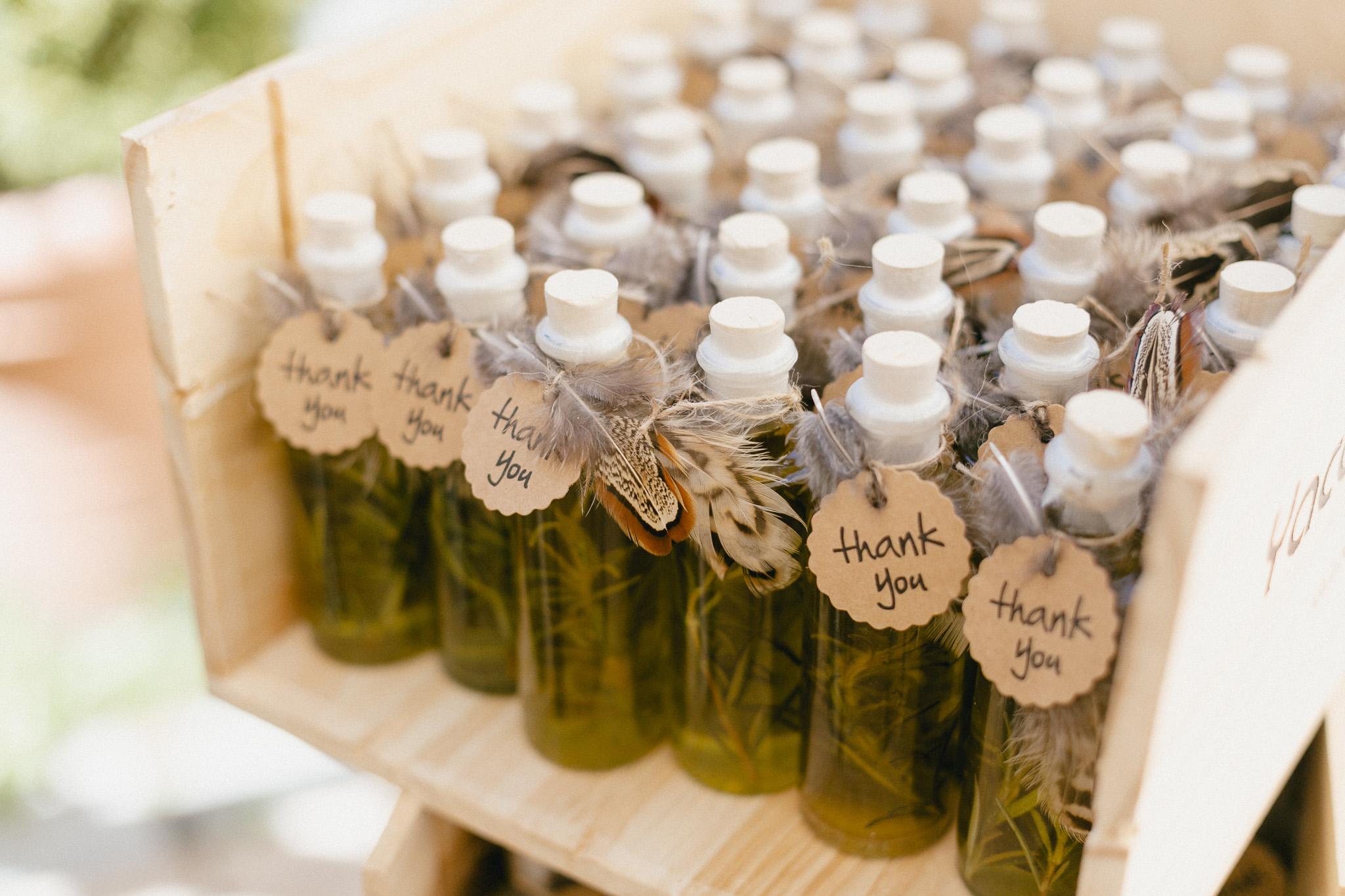 Gastgeschenk Hochzeit Ideen mit Öl