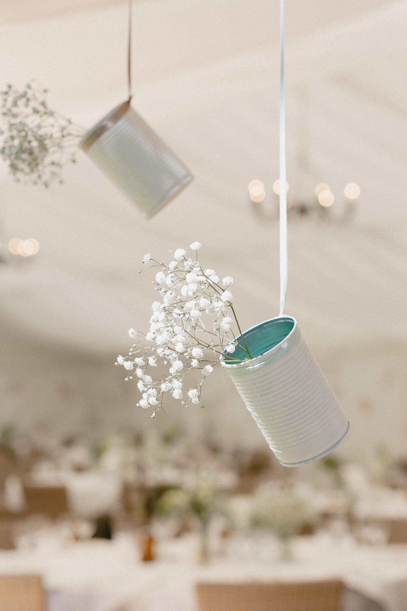 Blechdose Upcycling Vase Hochzeit