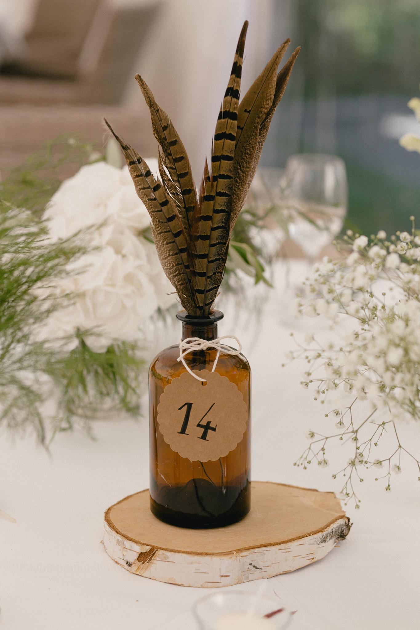 Tischnummer Hochzeit Boho Ideen, Apothekerglas Hochzeit Tischnummer