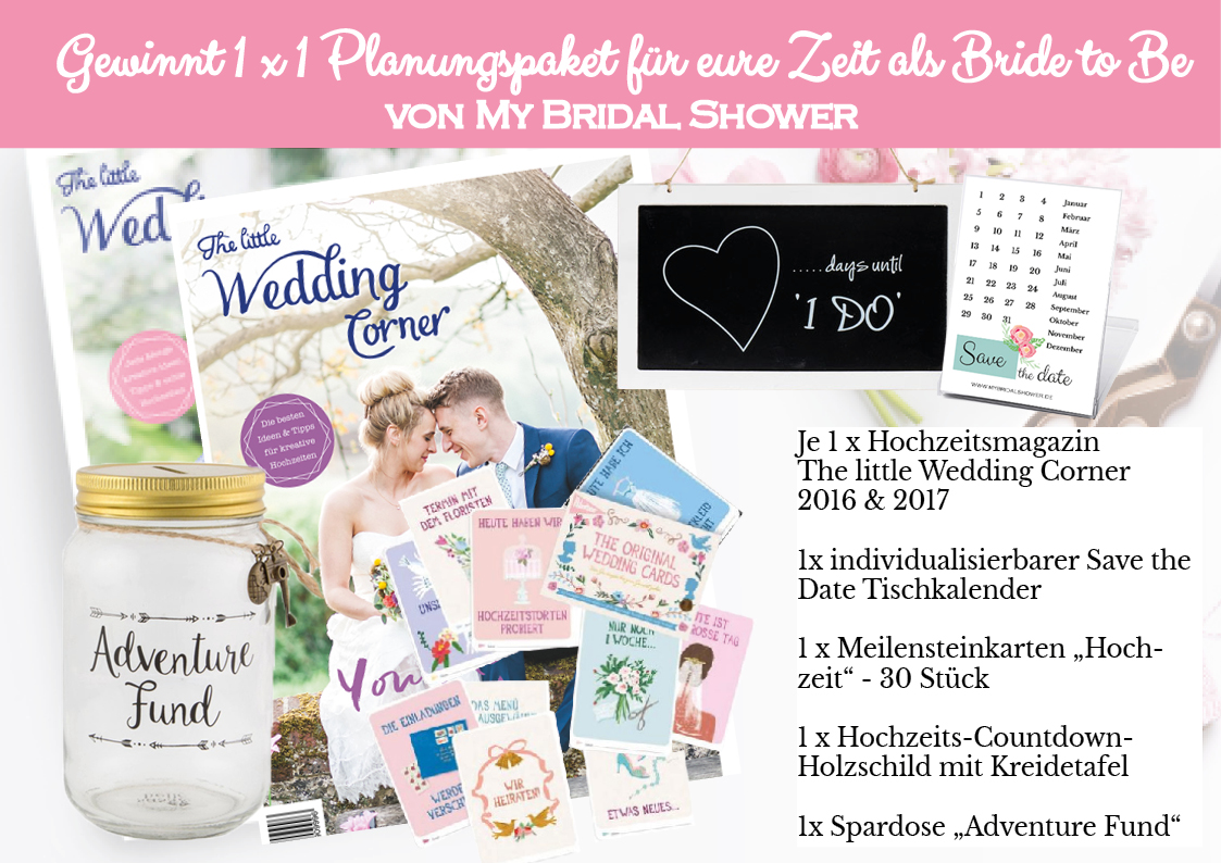 My Bridal Shower Gewinnspiel Magazin Launch Planungspaket