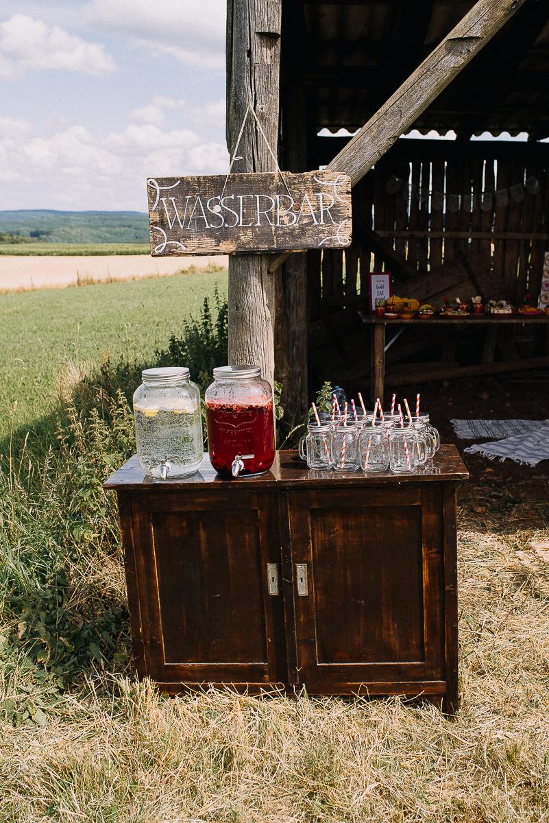 Wasserbar Hochzeit, Getränkebar Hochzeit