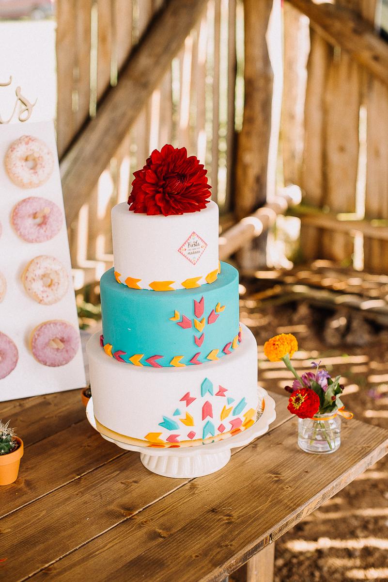 Hochzeitstorte mexikanisch bunt