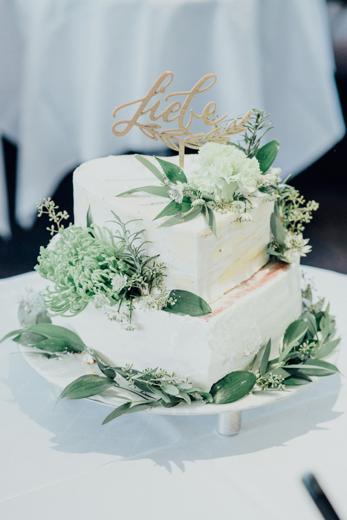 Cake Topper Hochzeit Liebe gold