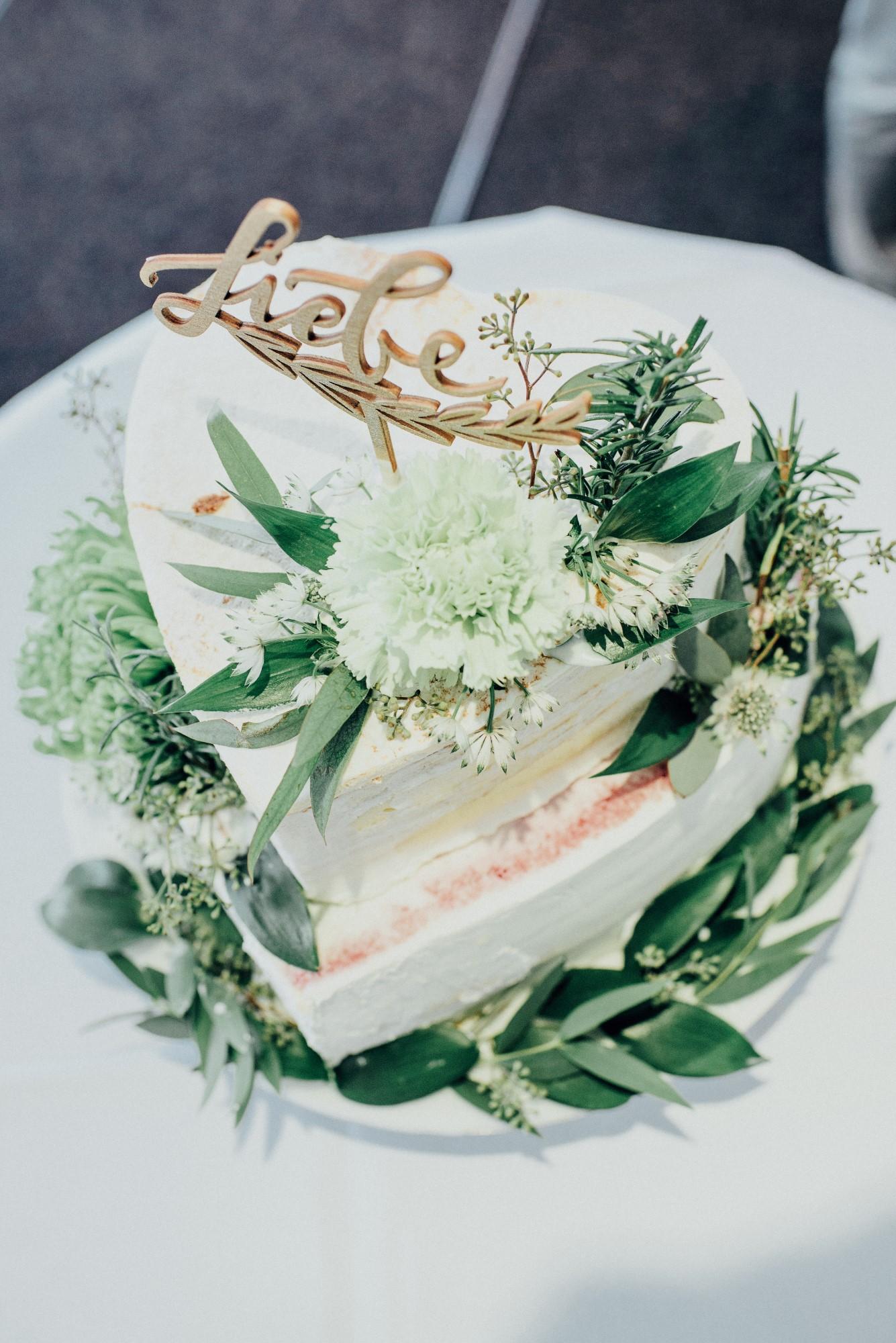 Cake Topper Hochzeit Liebe gold, Hochzeitstorte Handlettering Cake Topper