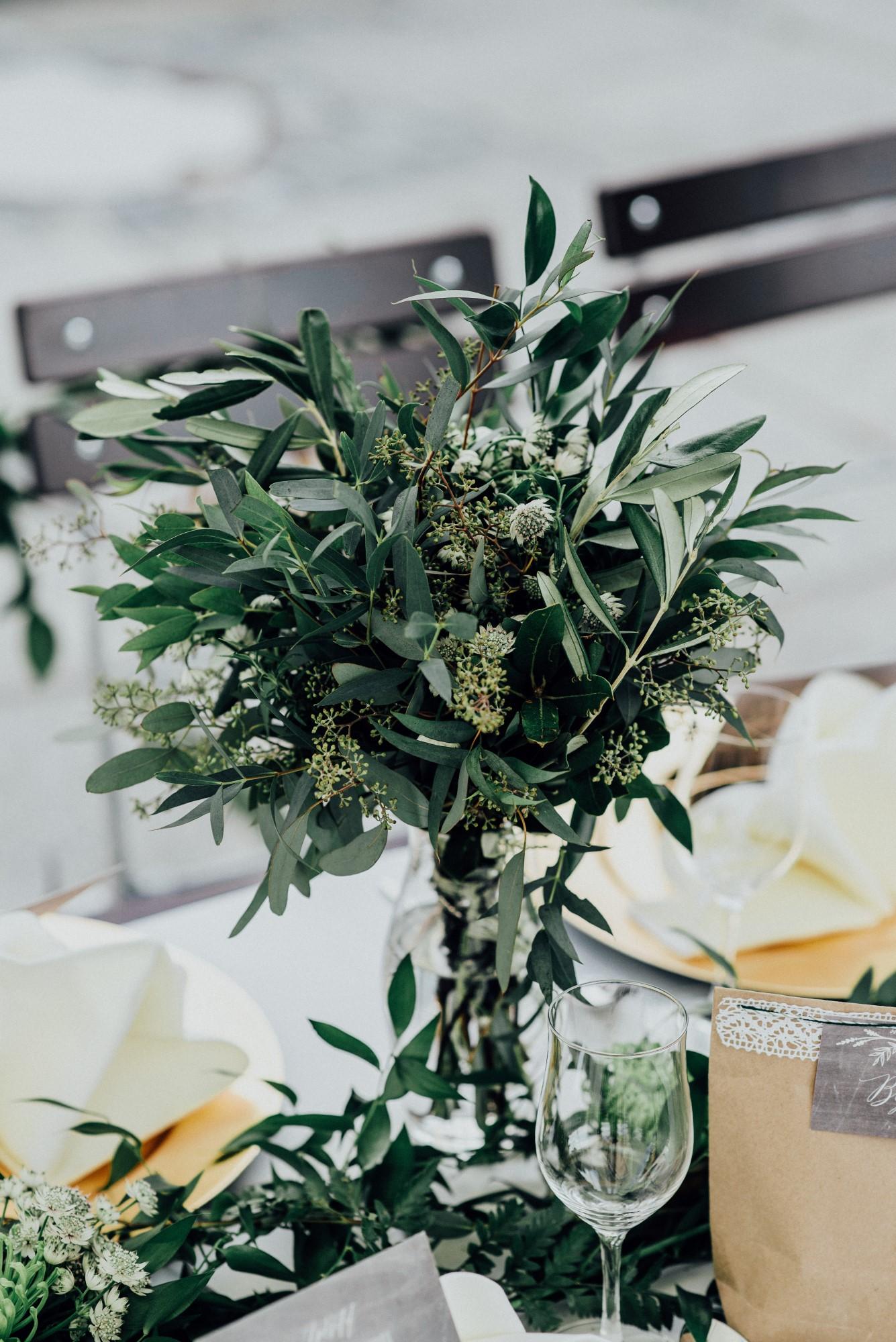 Brautstrauß Greenery