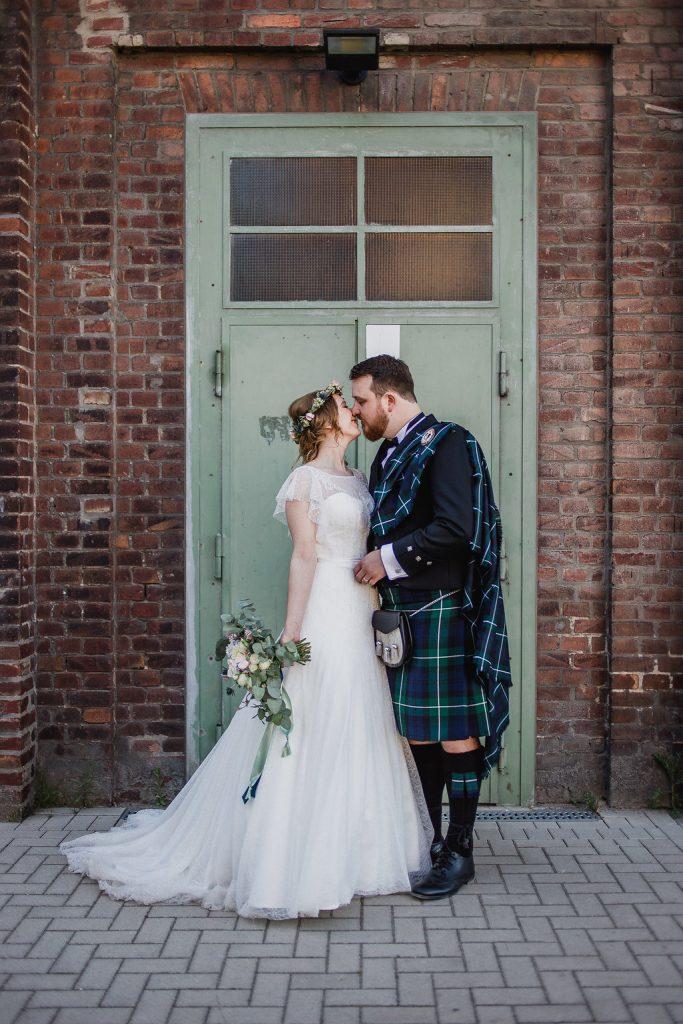Deutsch-schottische Hochzeit