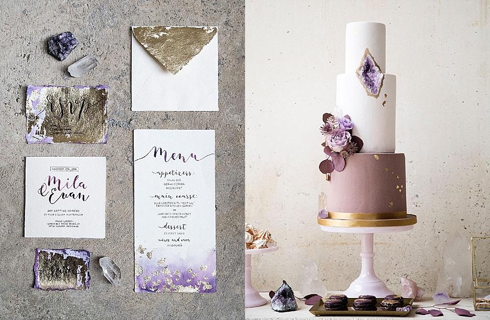 Hochzeitstrend 2018 (IV): Geode Wedding und Ultra Violet Hochzeit