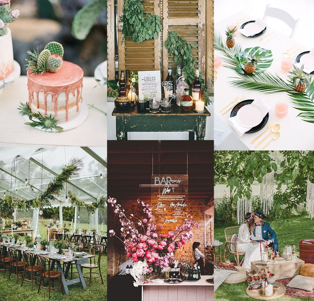 Hochzeitstrends 2018 (I): Greenery, Acryl und Kinfolk Wedding