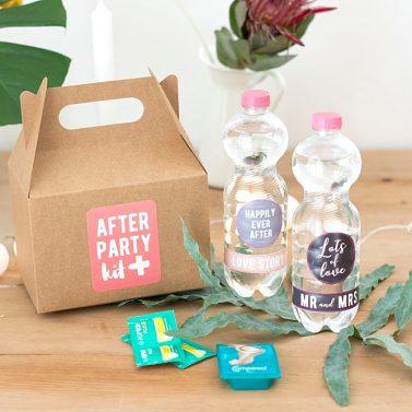 DIY Gastgeschenke, Schachteln und After Party Kits mit Selfpackaging