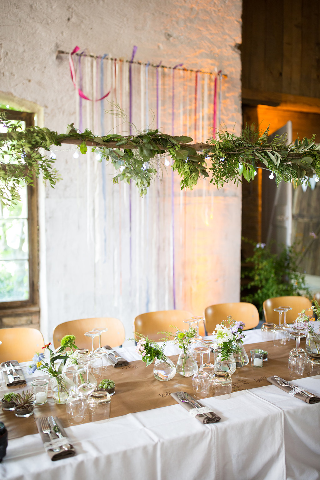 Rustikale Greenery Deko Hochzeitsblog The Little Wedding Corner