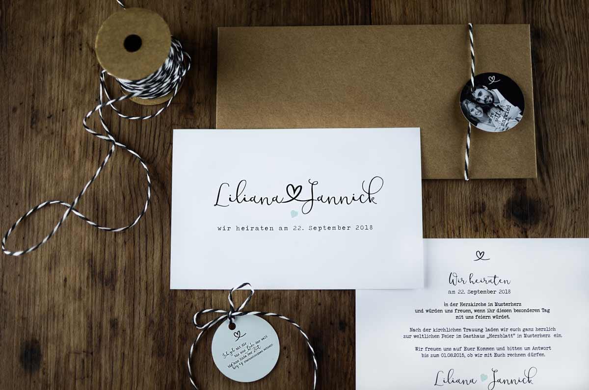 Hochzeitskarten individuell, Hochzeitskarten online