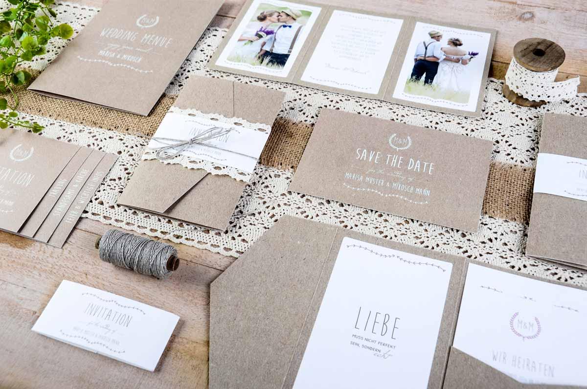 Hochzeitskarten Vintage, Hochzeitskarten rustikal