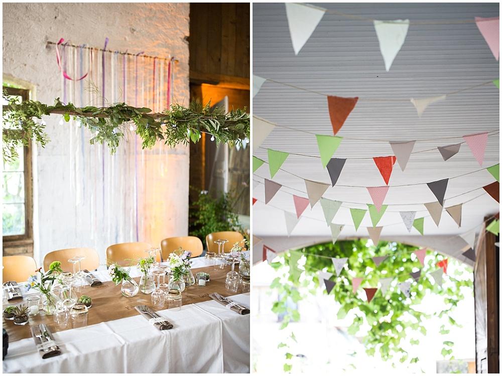 Rustikale Greenery Deko Hochzeitsblog The Little Wedding