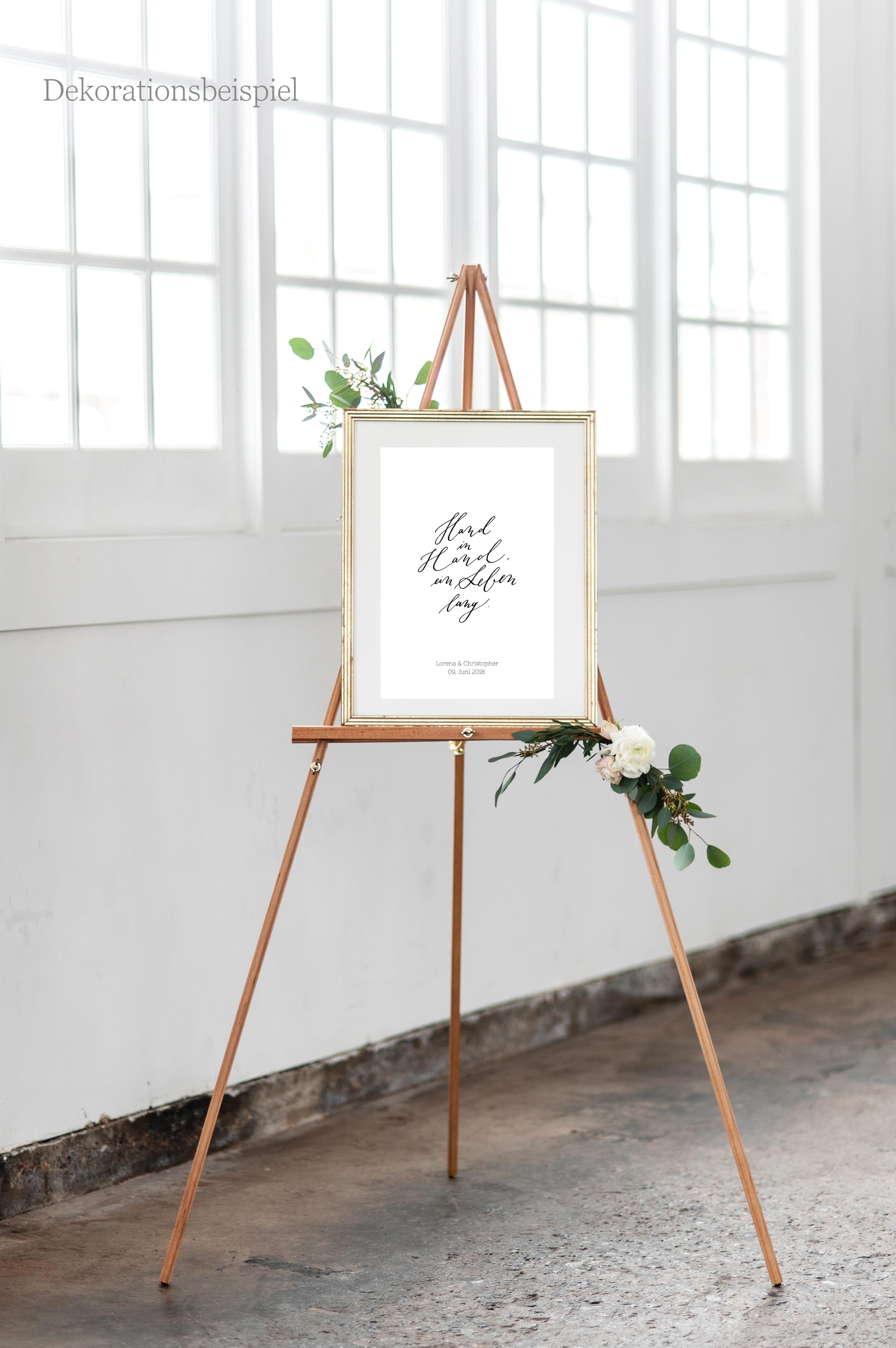 Hochzeitsschild individualisierbar mit Namen und Datum, Poster Hochzeit, Hochzeit Poster mit Namen Brautpaar